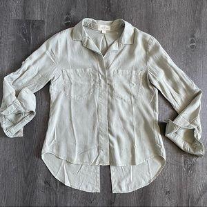 (NWOT) Cloth & Stone Tan Split Back Shirt (XS)